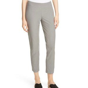 Eileen Fisher Signature Gray Stretch Crepe Pants